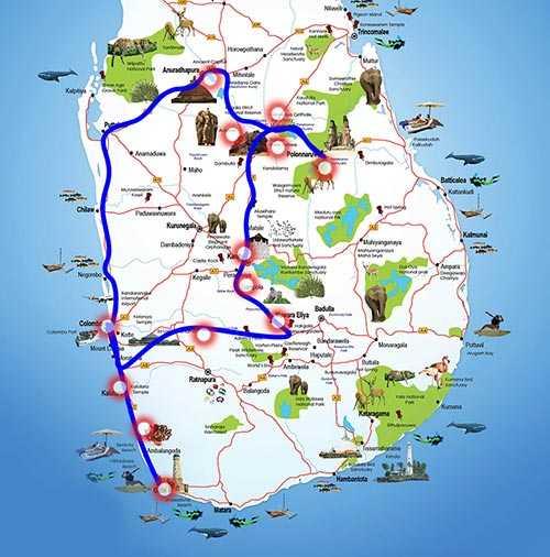 classical tour 7 days map